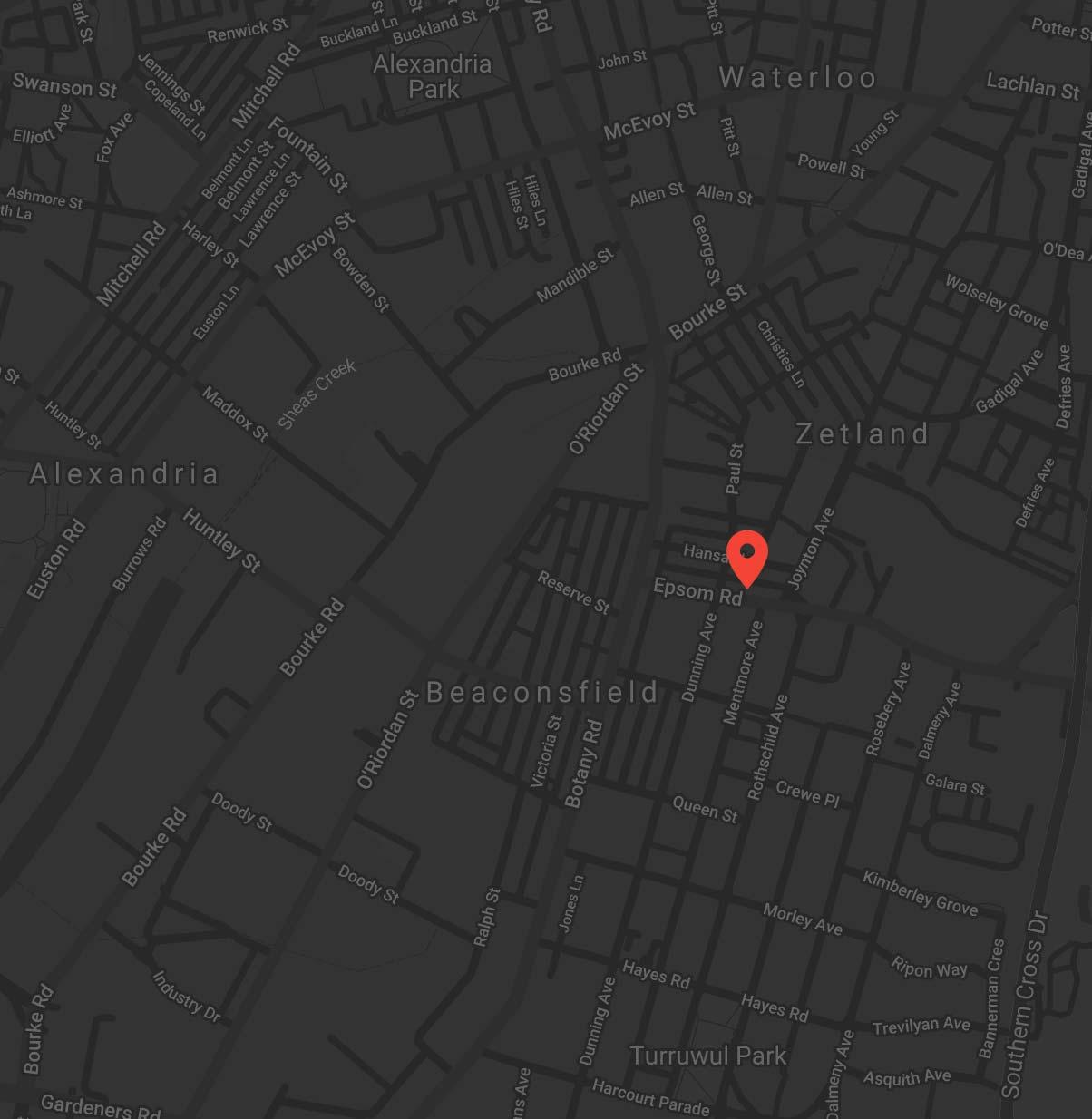 VTT Zetland location map