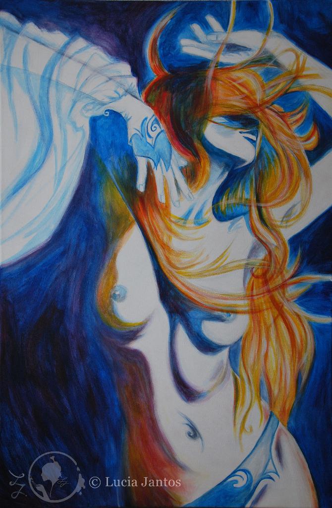 Farbentanz - Acryl auf Leinwand 60x90cm