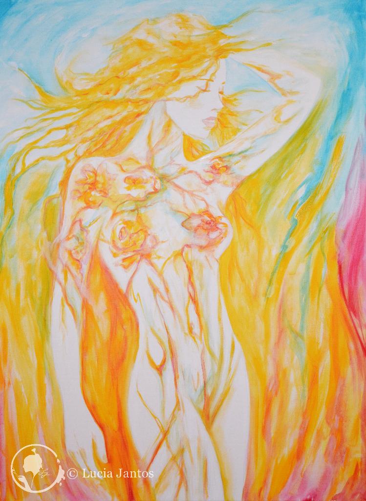 Flammenhaar - Acryl auf Leinwand 60x80cm
