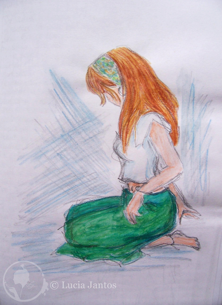 Laura - Aquarell auf Papier Din A5