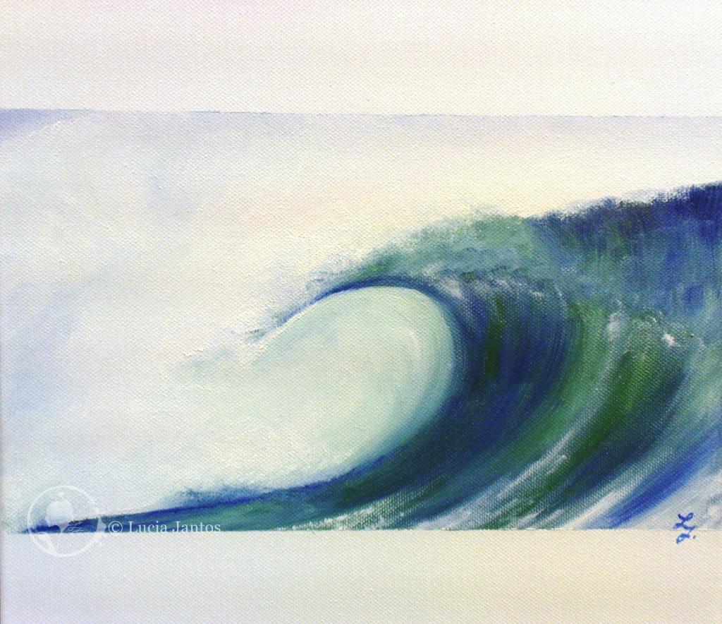 Die Welle - Öl auf Leinwand 30x30cm