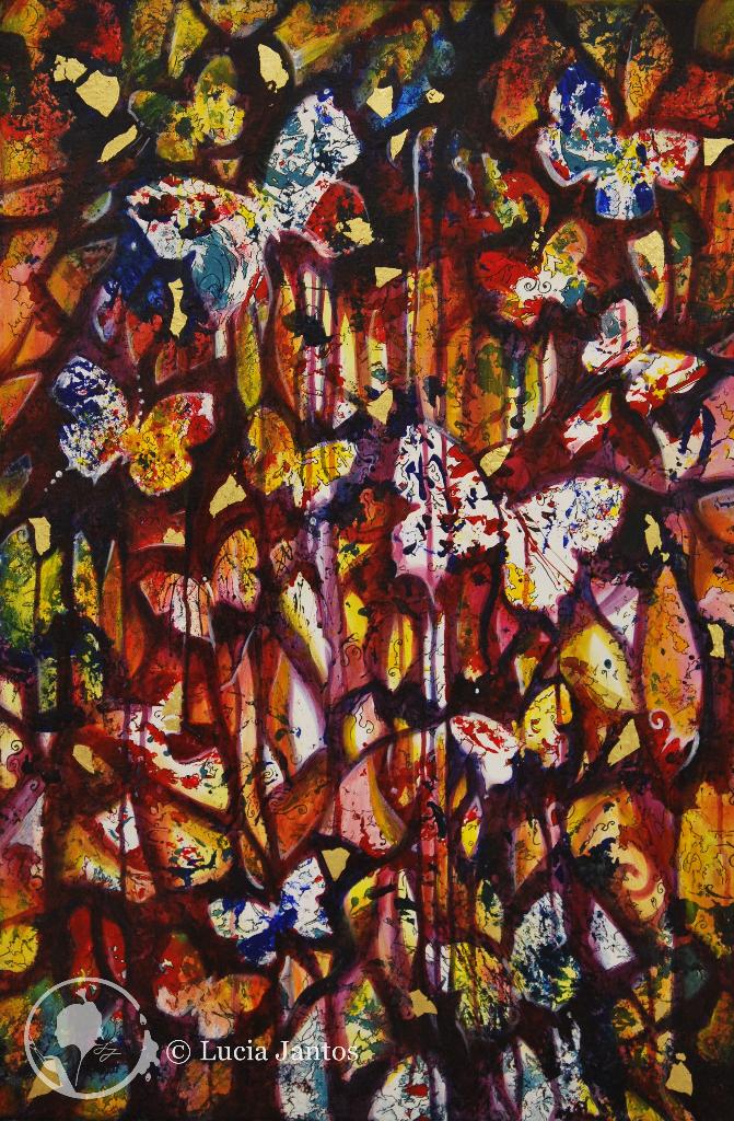 Märchenwald 1 - Acryl auf Leinwand 60x90cm