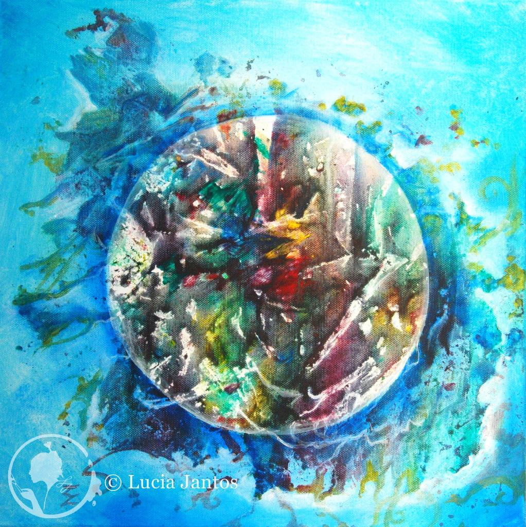 Chris Welt  - Acryl auf Leinwand 30x30cm