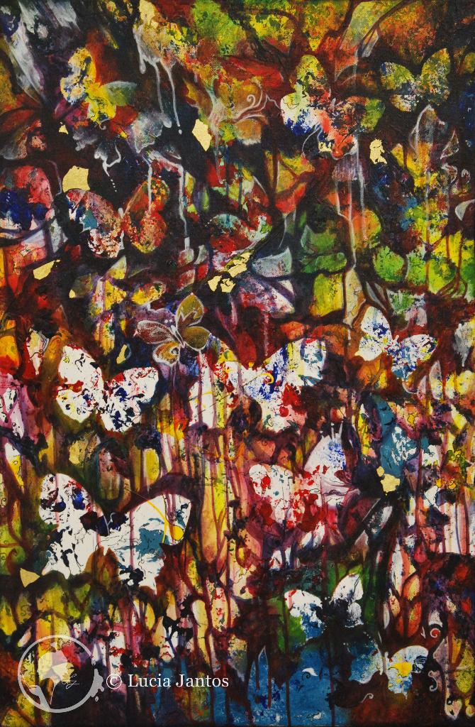 Märchenwald 2 - Acryl auf Leinwand 60x90cm