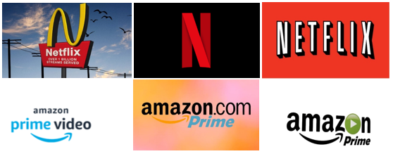 Netflix branding, Amazon branding