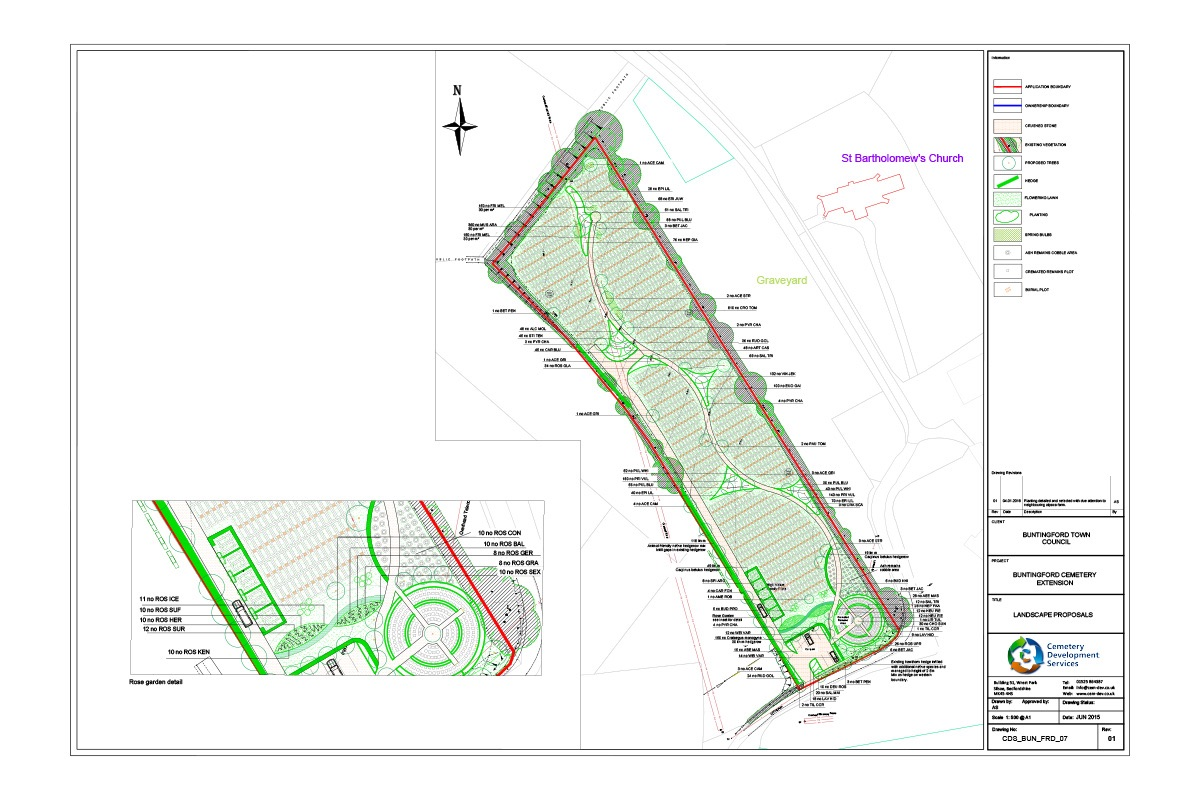 CDS Design of Buntingford Cemetery