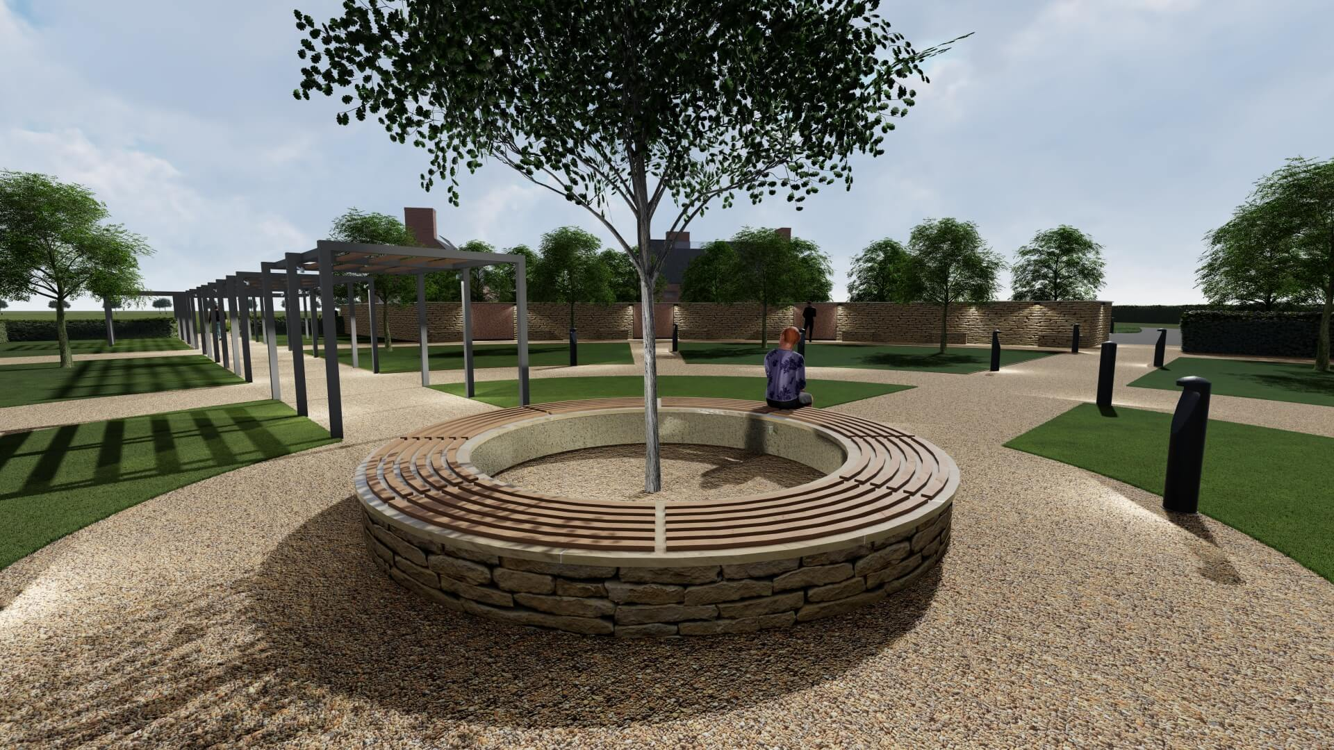 Hambleton Crematorium - Memorial Garden Design and Seating