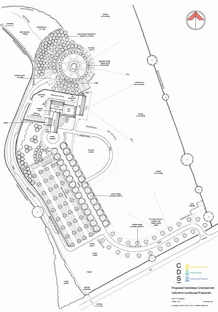 Hambleton Crematorium, Concept Site Layout Plan