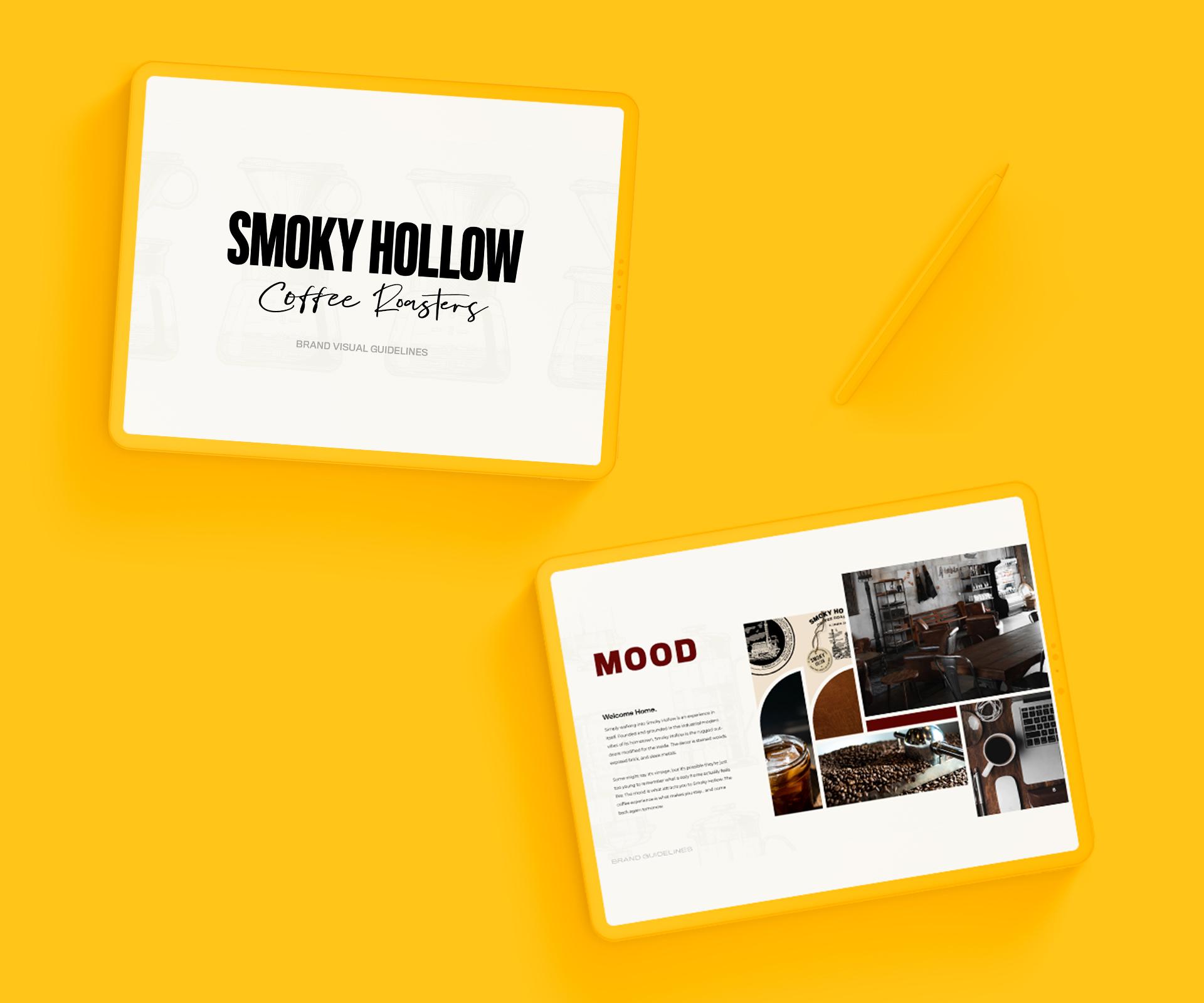 Smoky Hollow Coffee Roasters Brand Design