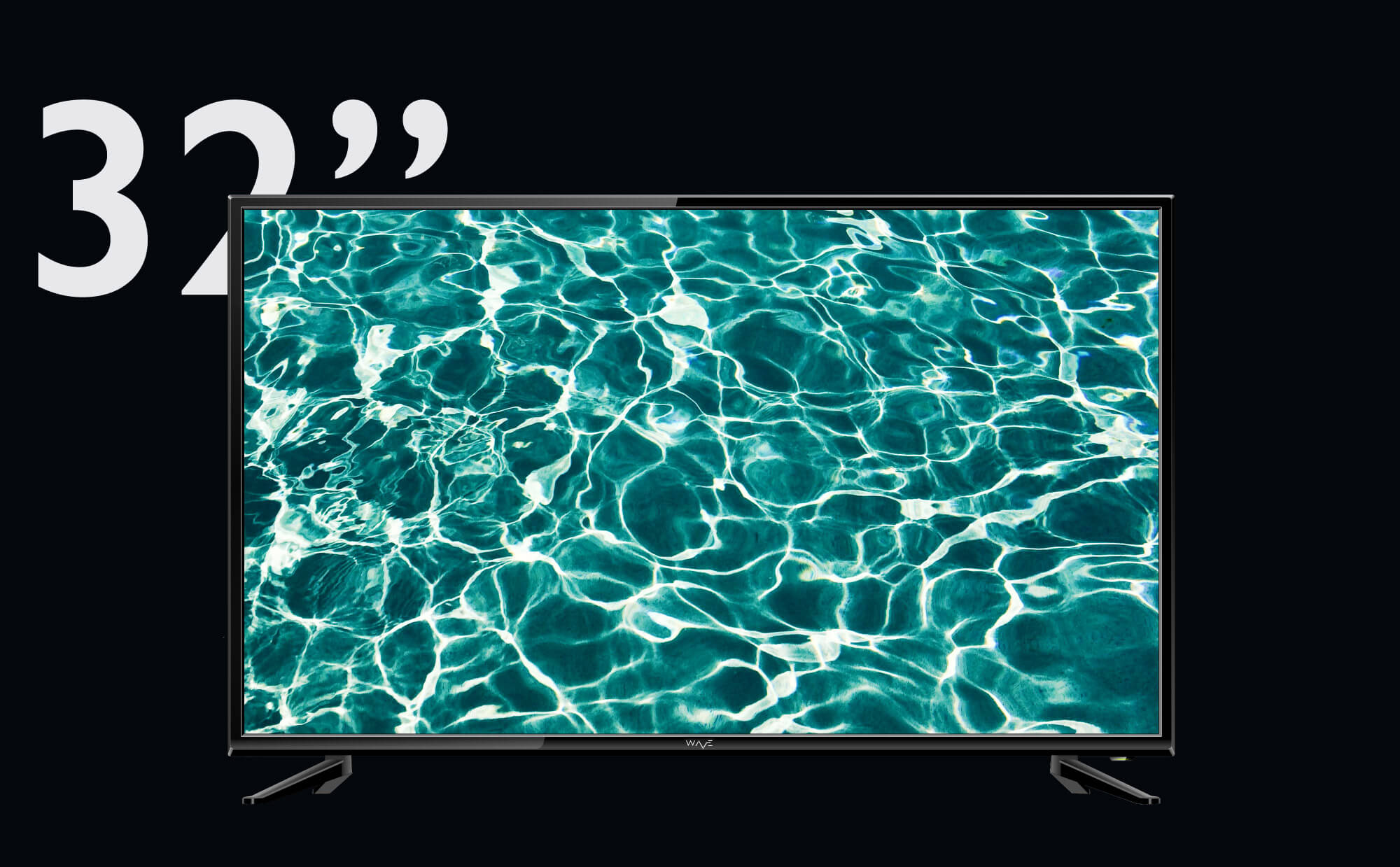 """WAVE Electronics presents 32"""" RIPPLE with Wifi, HD ready screen and Android 7.0 OS at an unbeatable price"""