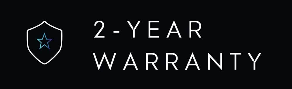 WAVE STREAM is covered by a 2-year warranty