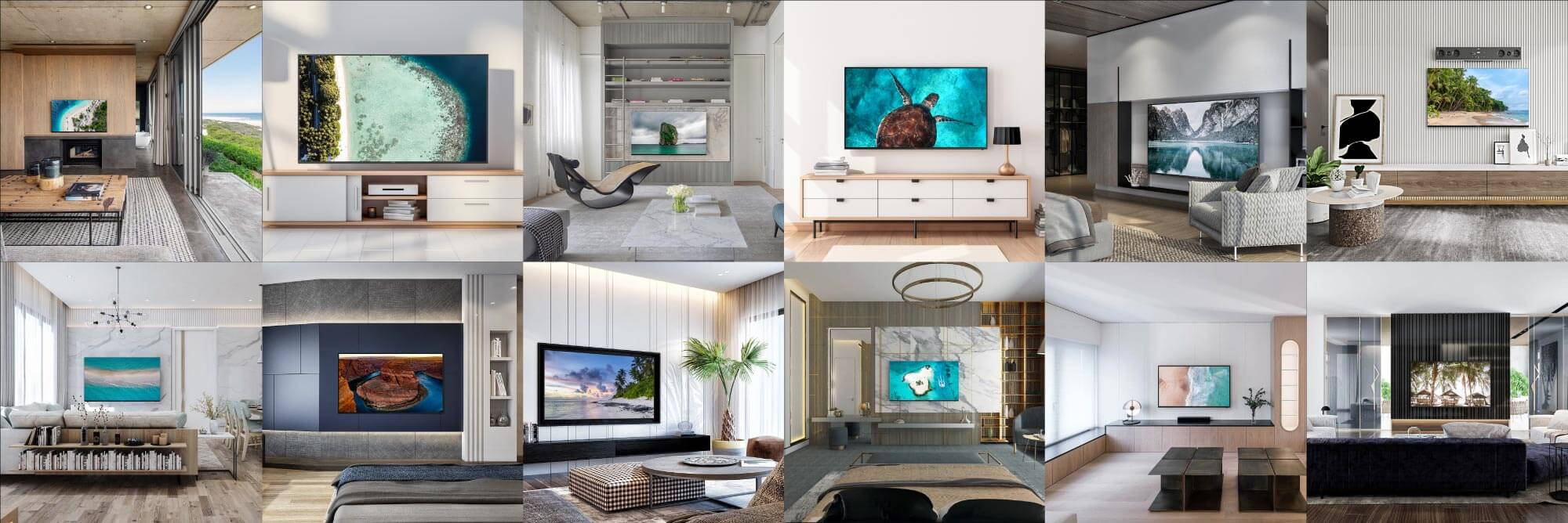 WAVE TVs look amazing in every living room from luxurious to minimalist