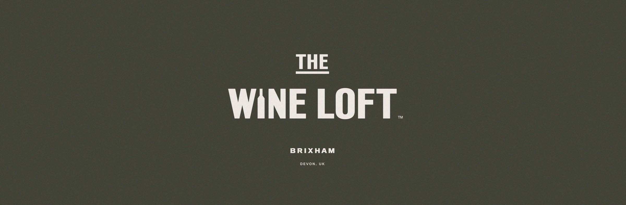 The Wine Loft brand logo white on green