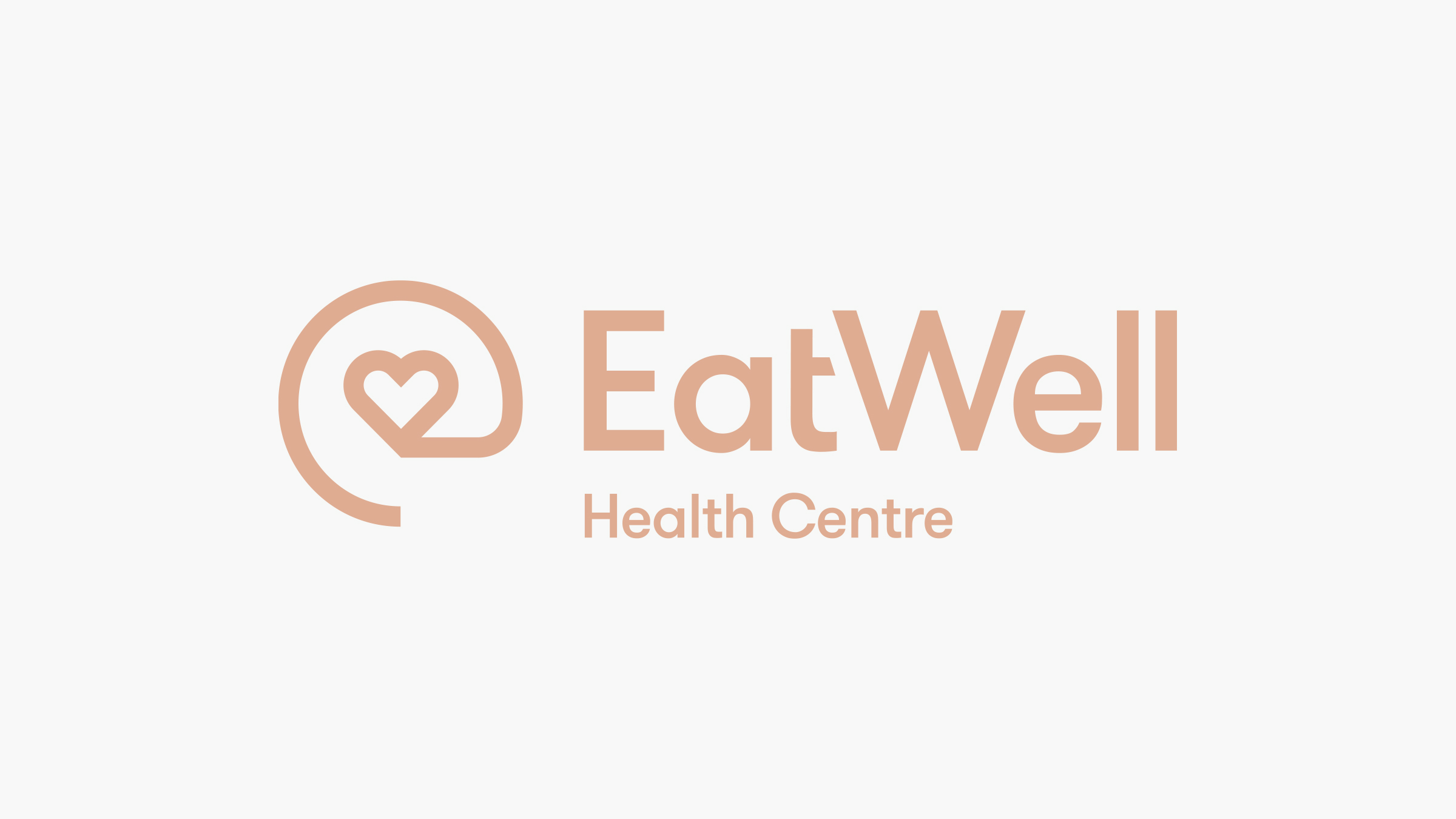 EatWell brand logo pink on cream