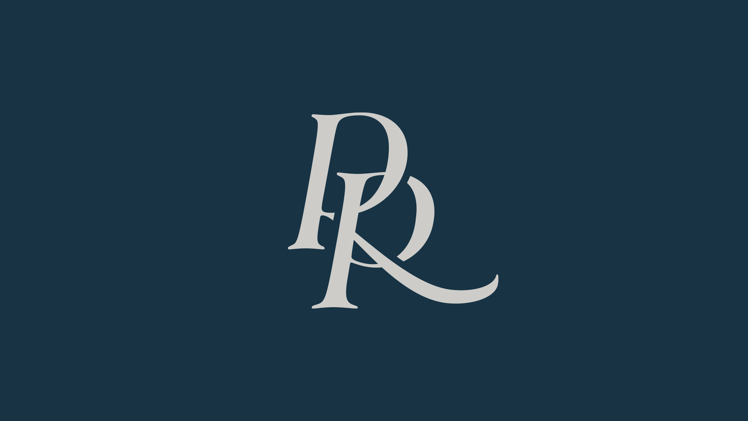 Res Publica brand logo grey on blue