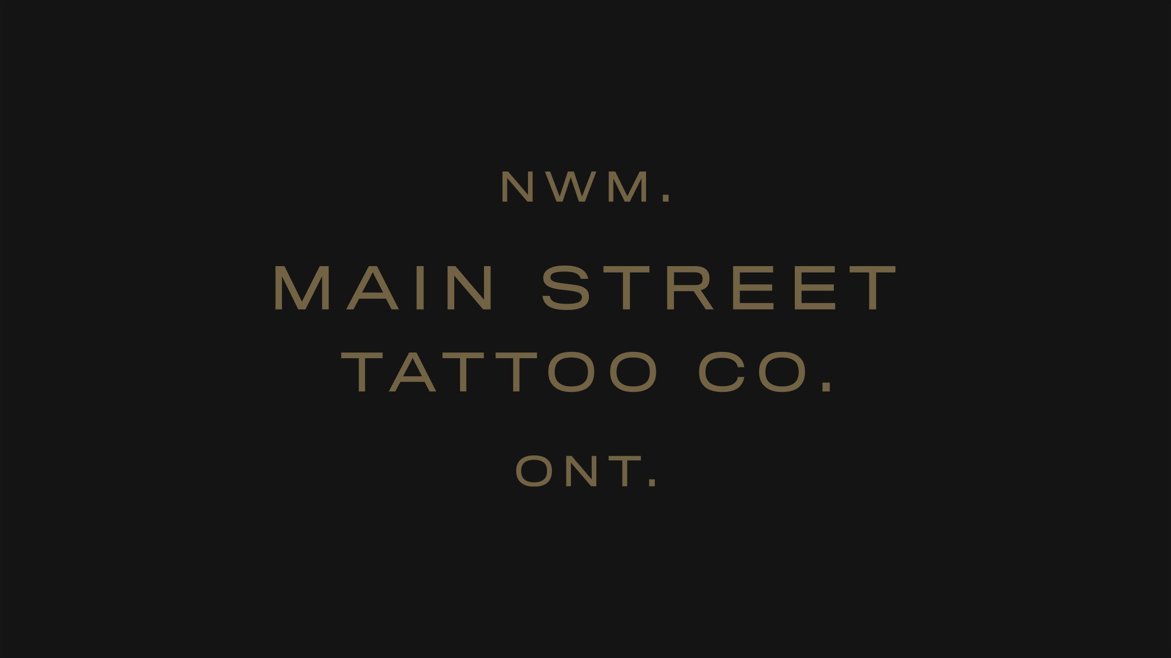 Main Street Tattoo Co. brand logo gold on black