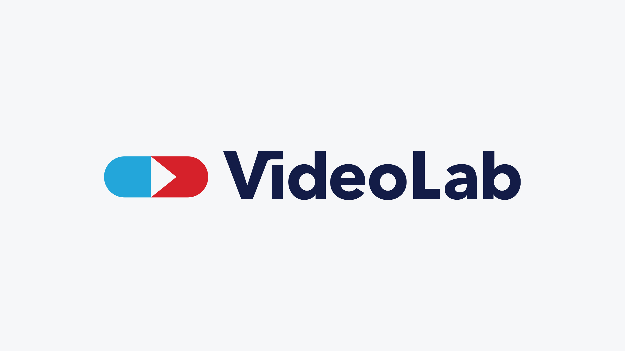 VideoLab brand logo blue on white