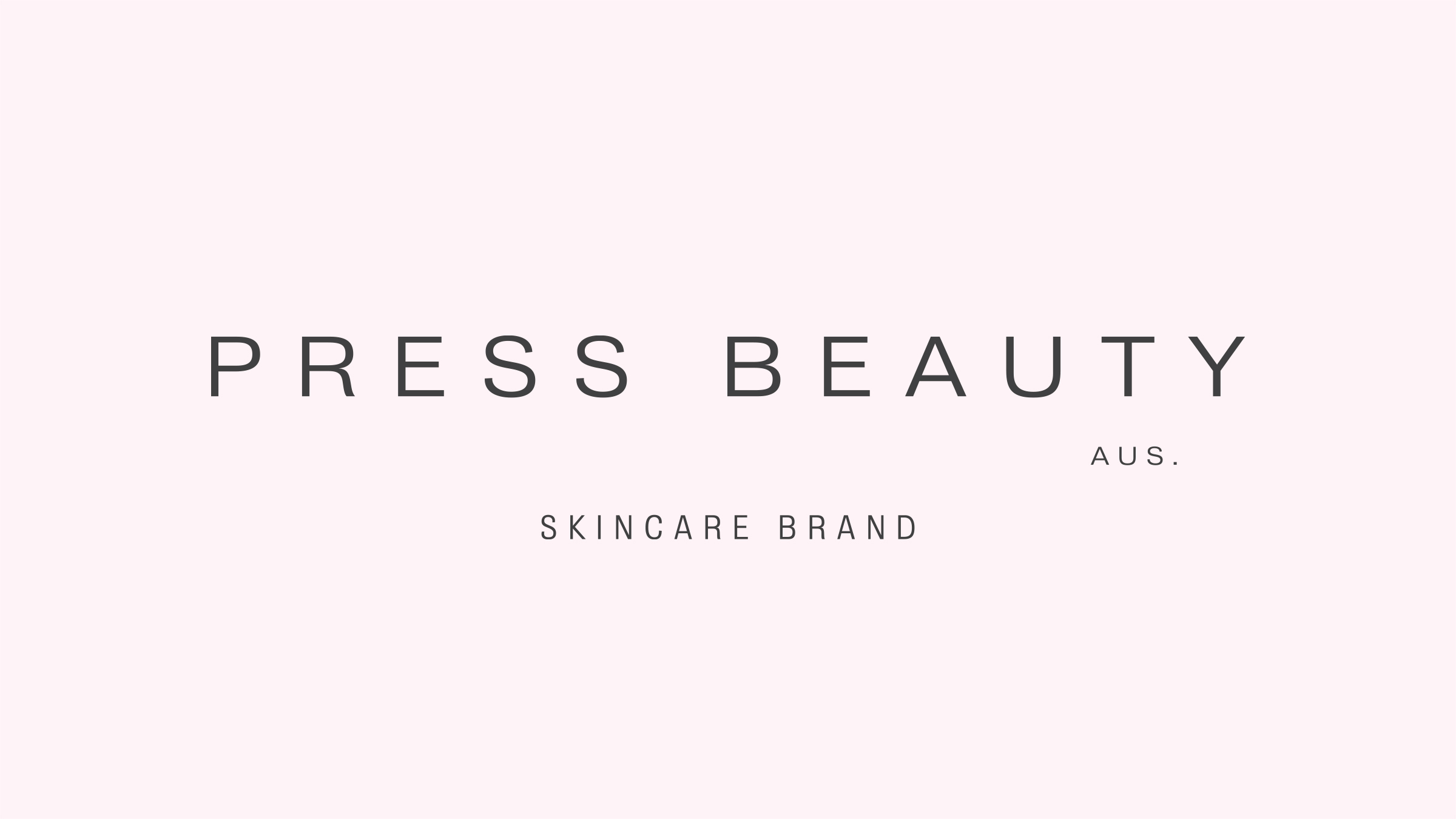 Press Beauty Skin Care brand logo black on pink