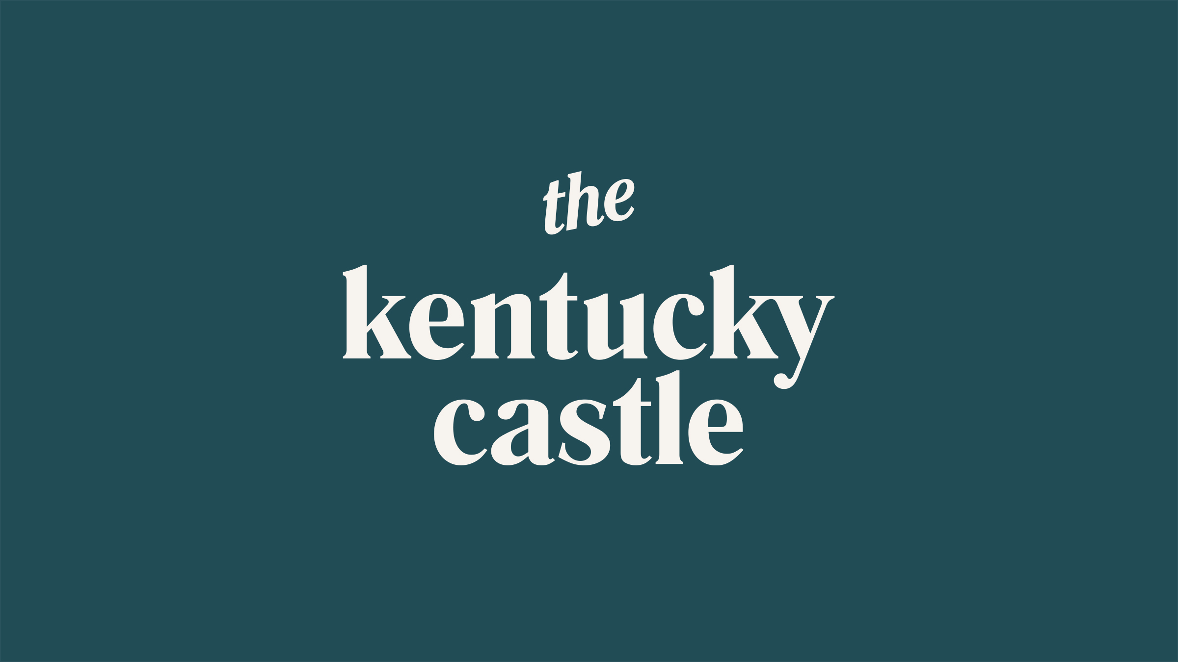 The Kentucky Castle brand logo white on green