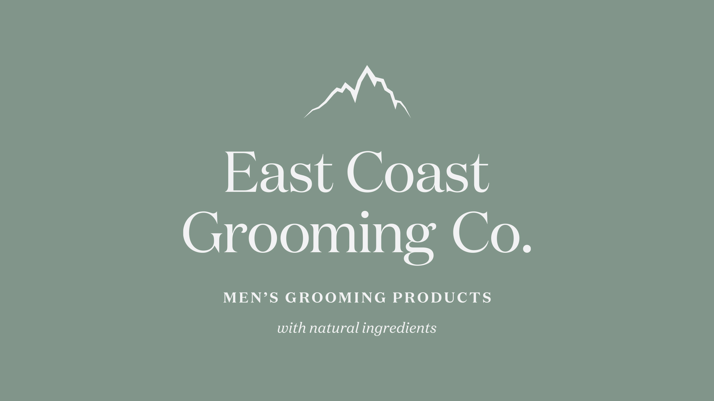 East Coast Grooming Co. brand logo white on green