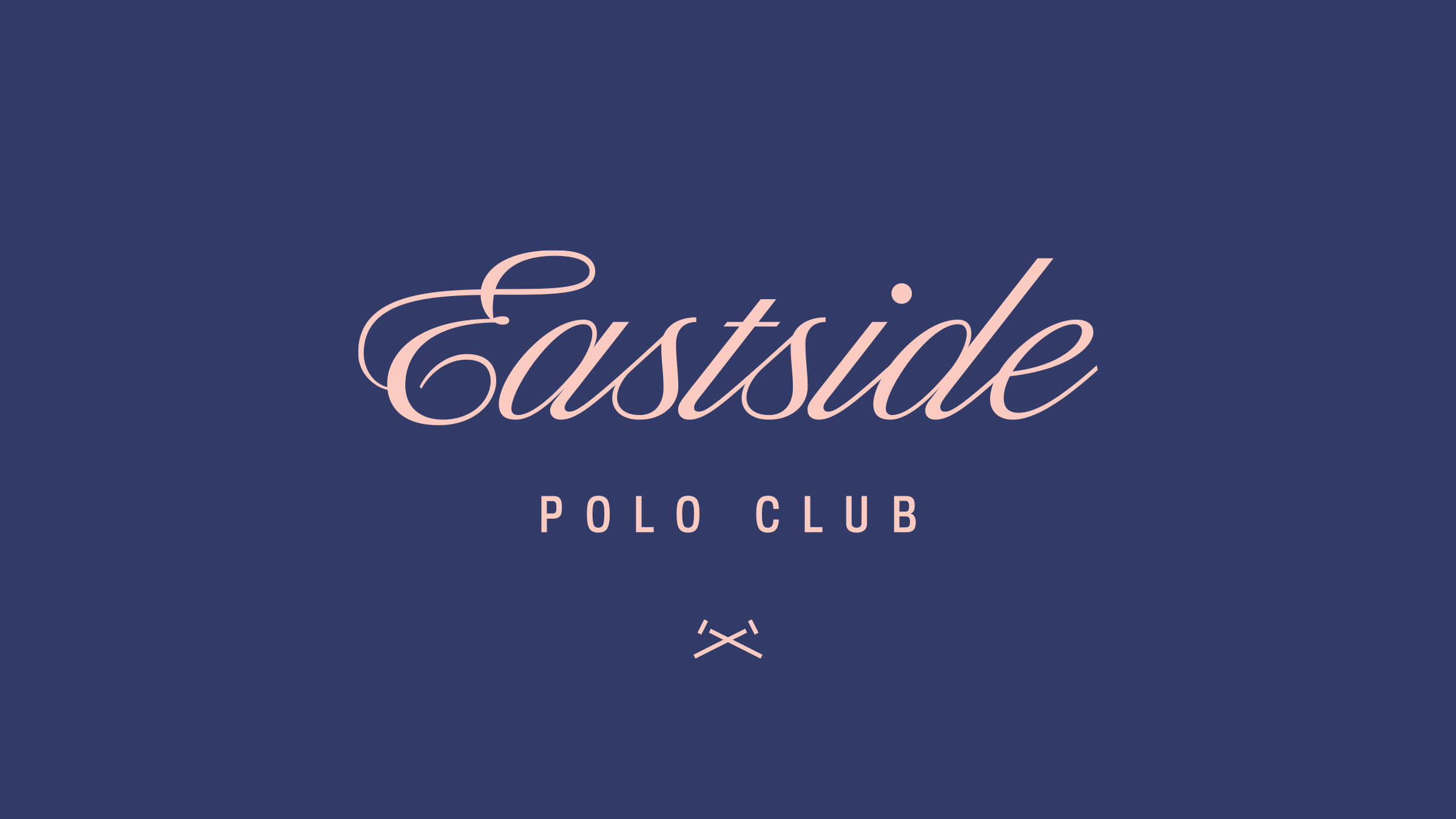 Eastside Polo Club brand logo pink on purple