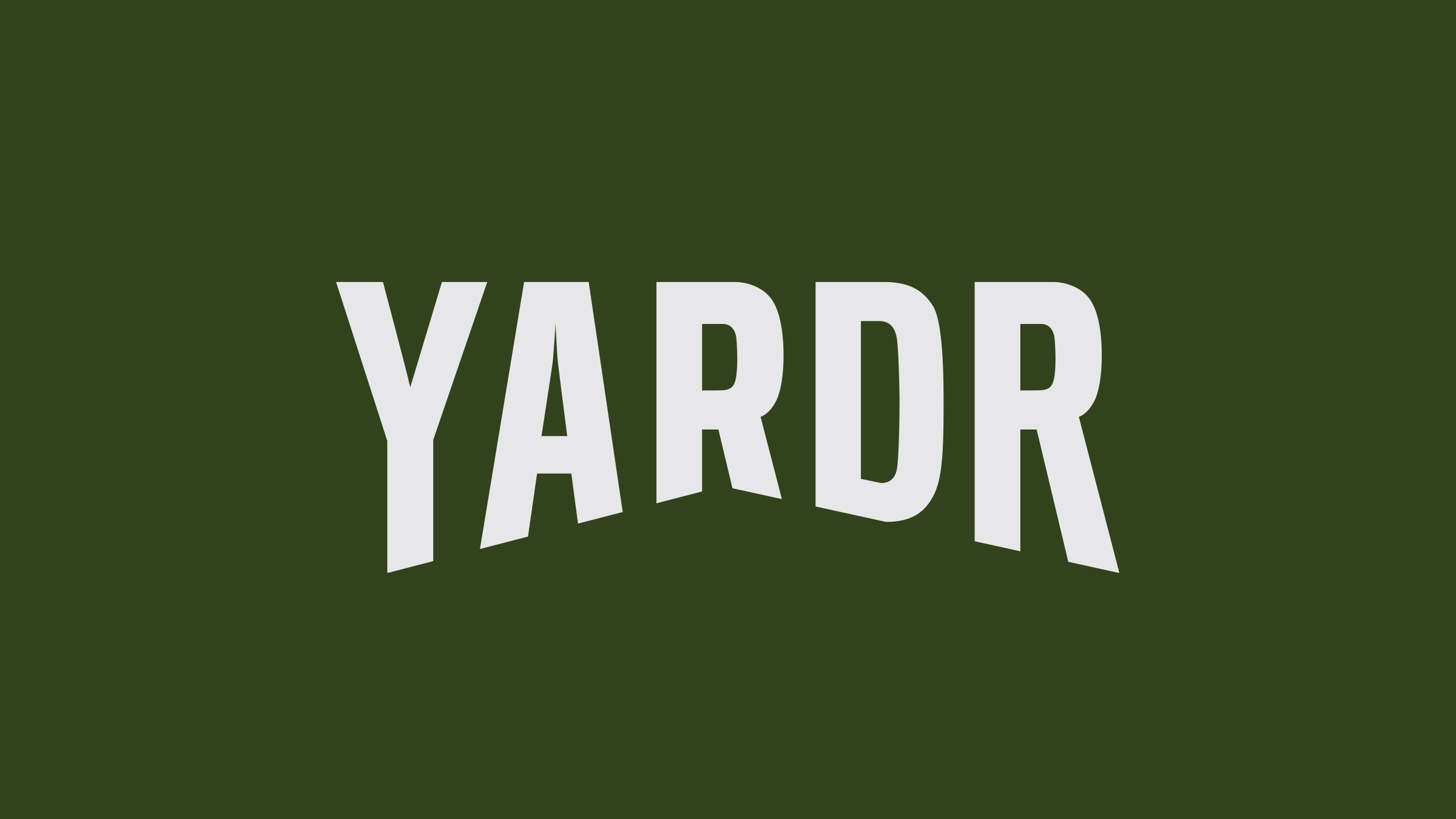 Yardr brand logo white on green