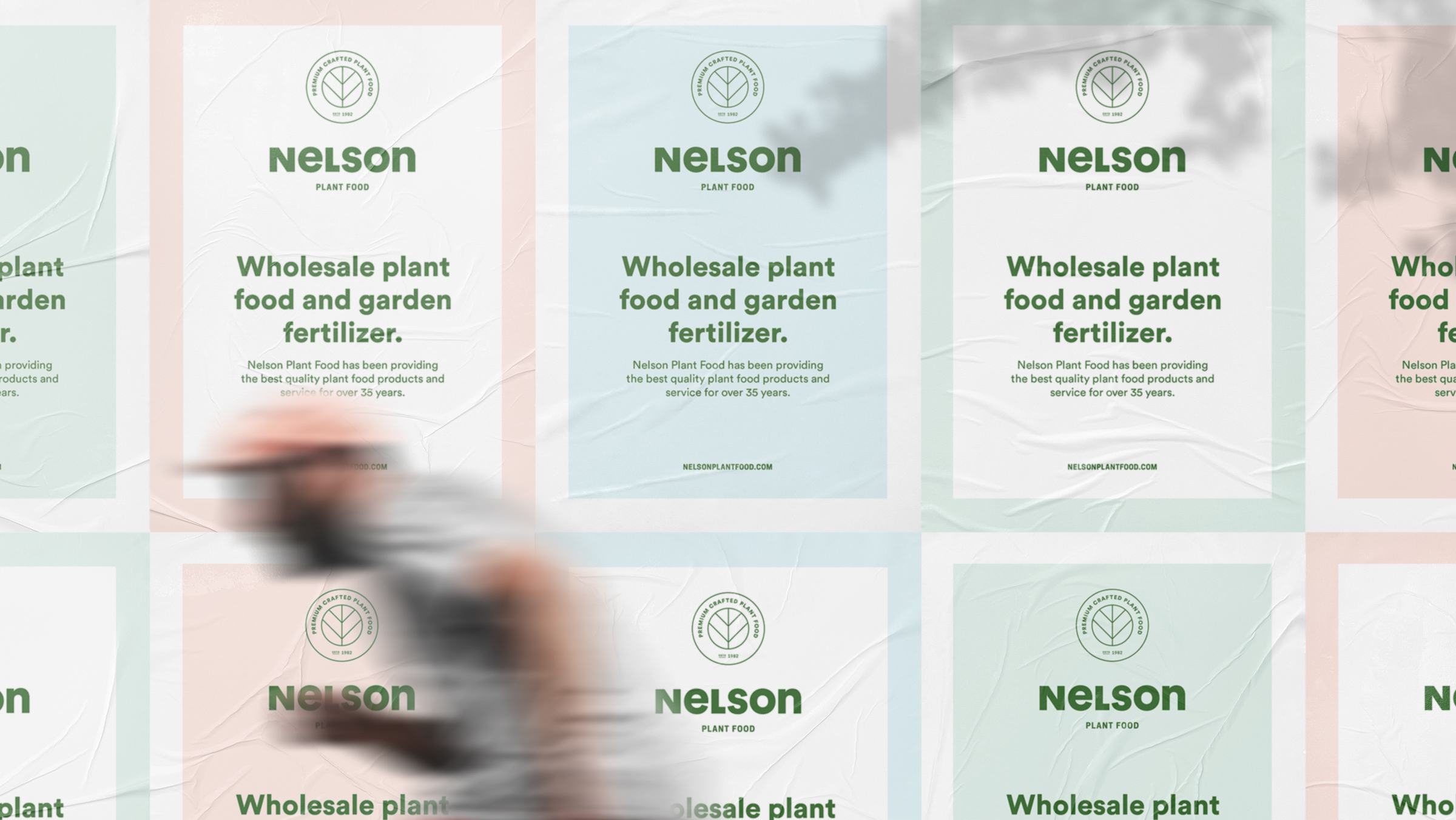 Nelson Plant Food brand marketing posters