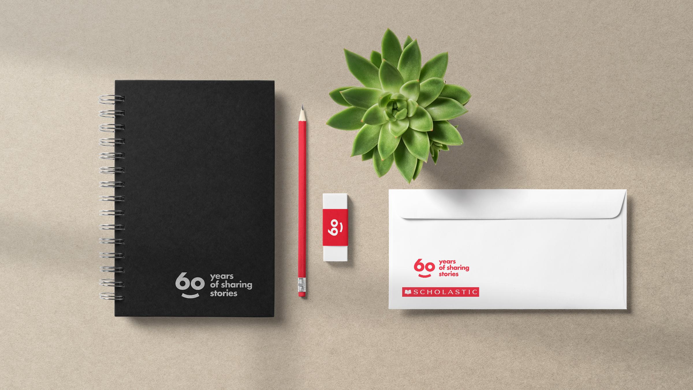 Scholastic 60 year anniversary brand stationery