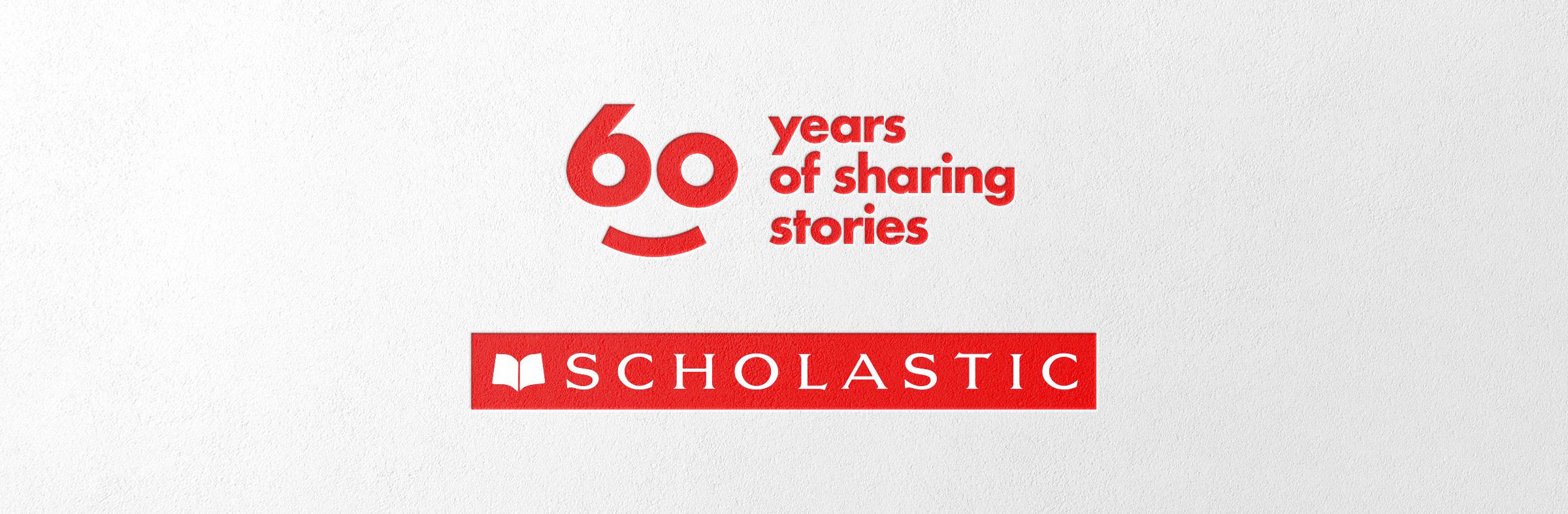 Scholastic 60 year anniversary logo lockup