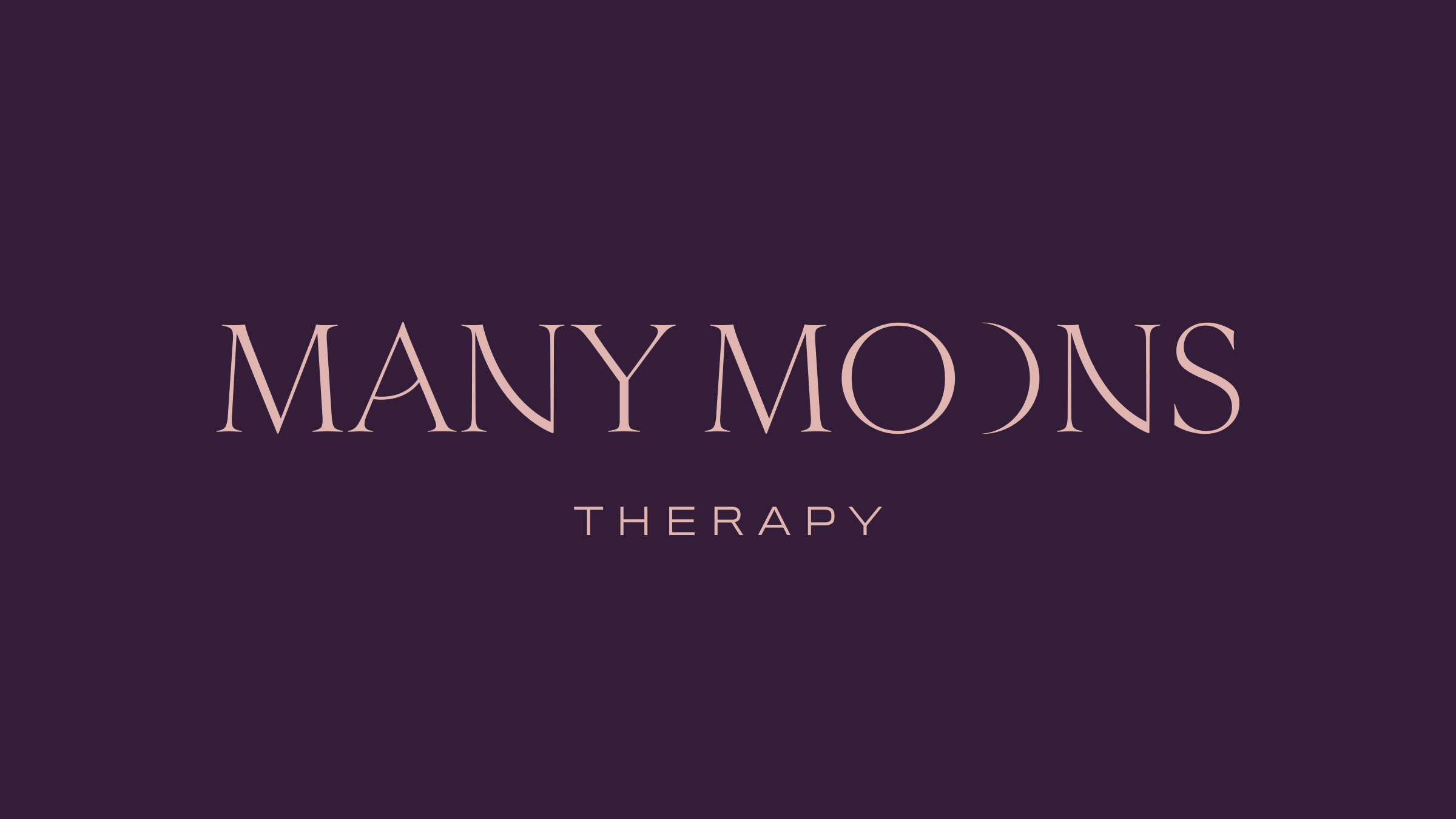 Manny Moons Therapy brand logo pink on purple