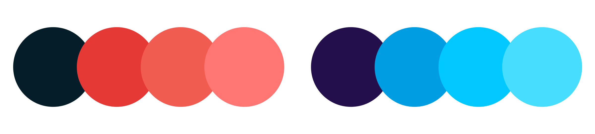 EvenUp colour palette, navy blue and reds, dark purple and blues