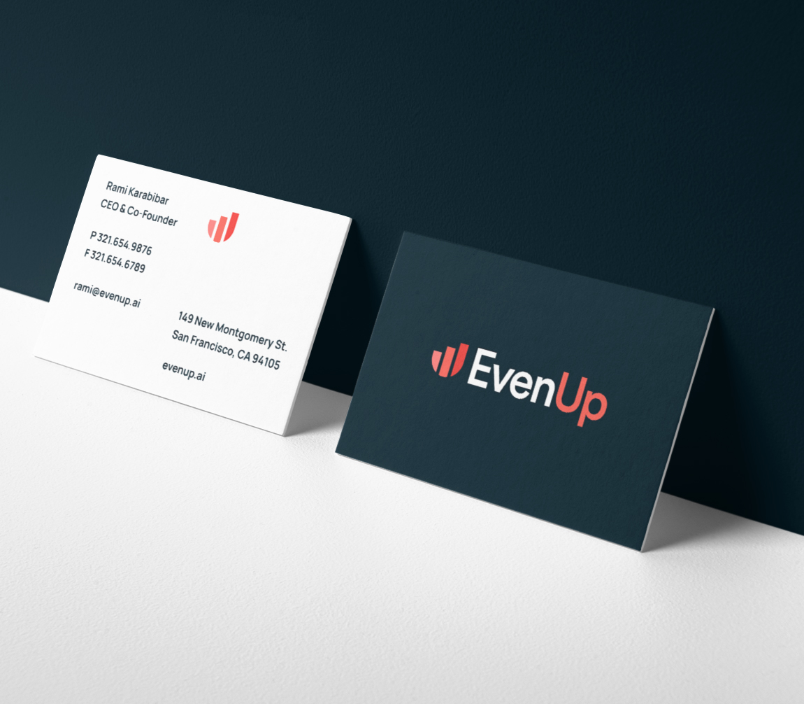 EvenUp brand stationery business cards