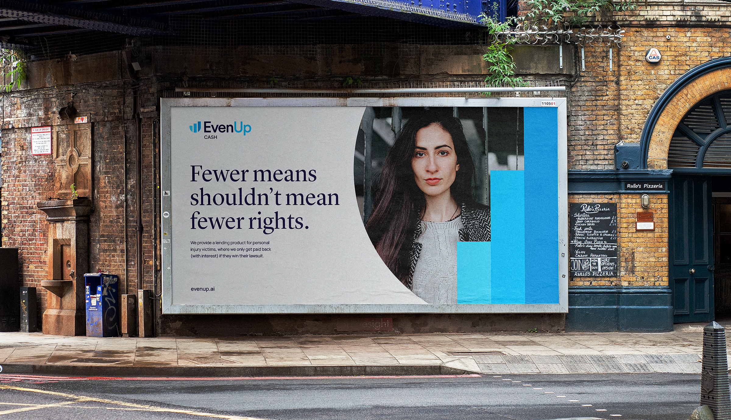 EvenUp brand marketing billboard application