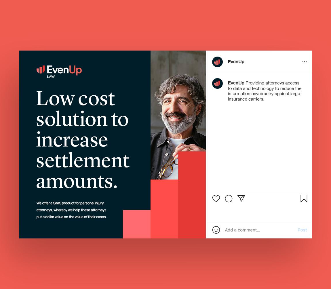 EvenUp brand marketing instagram post application