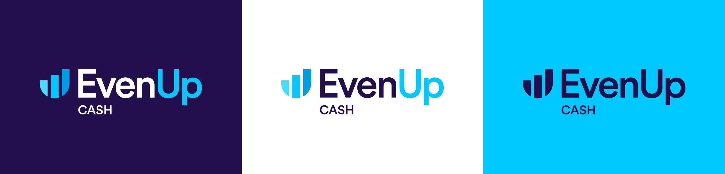EvenUp Cash logo colour suite