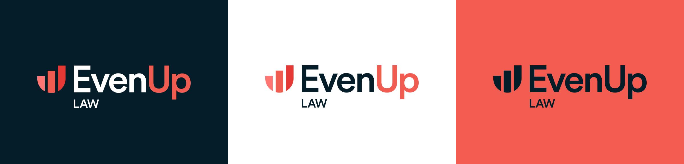 EvenUp Law logo colour suite