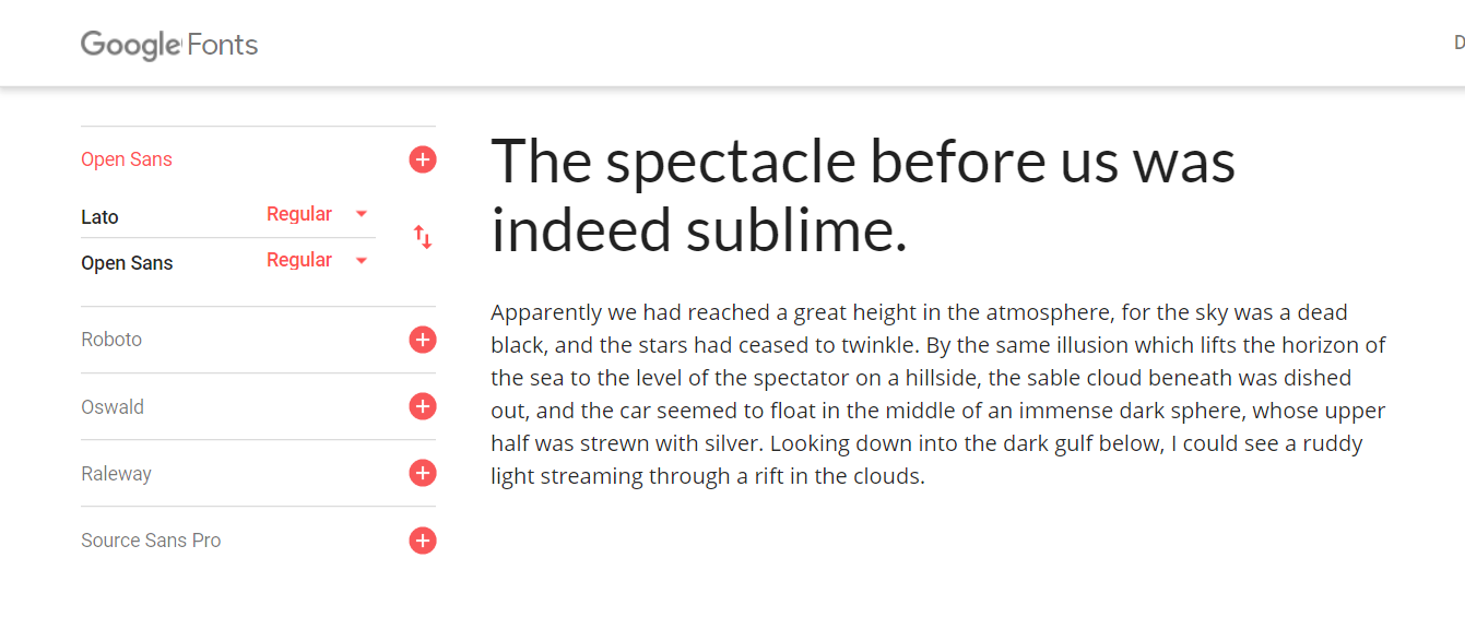 The perfect pair of fonts (Lato and Open Sans)