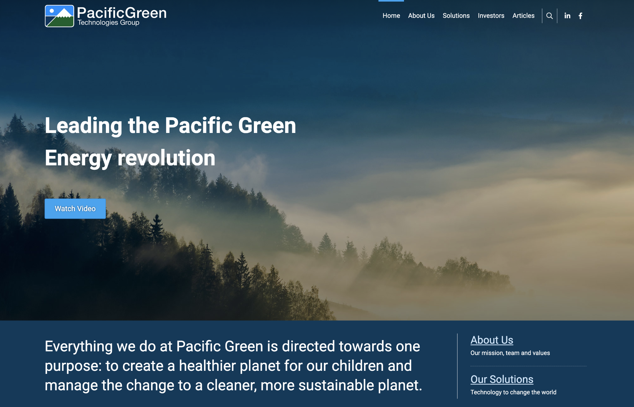 PacificGreen Technologies Group website