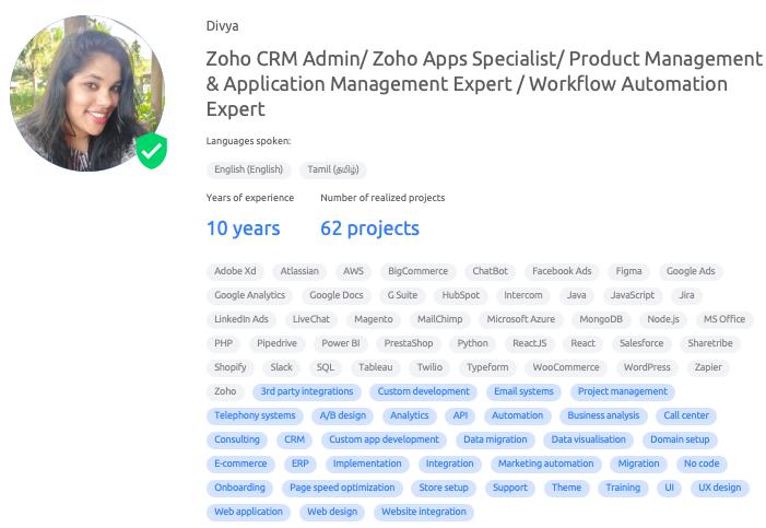 ZOHO specialist