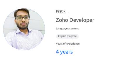 Profile of Zoho developer