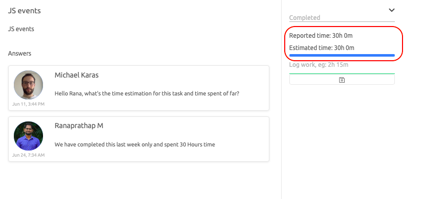 Magento developer reports working hours