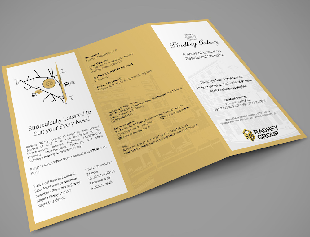 Radhey Group Brochure Design
