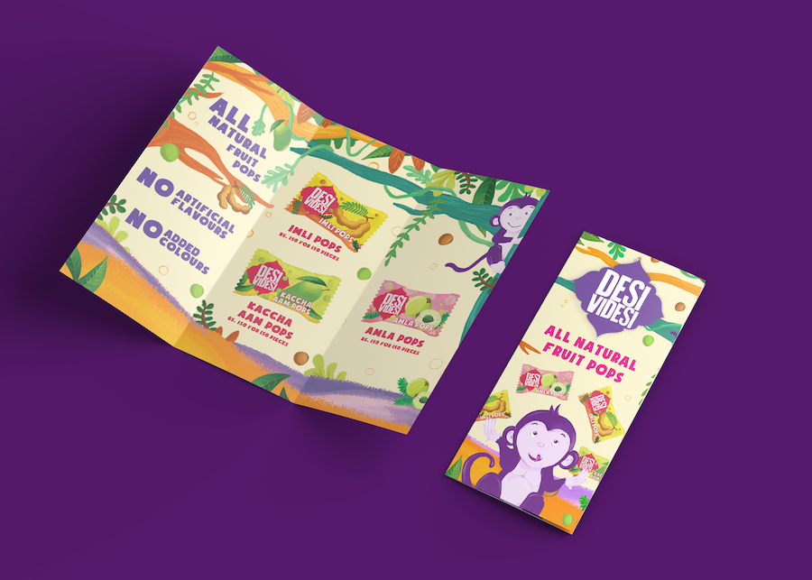 Plane Crazy Branding Agency Desi Videsi Packaging Chips Brochure Pops