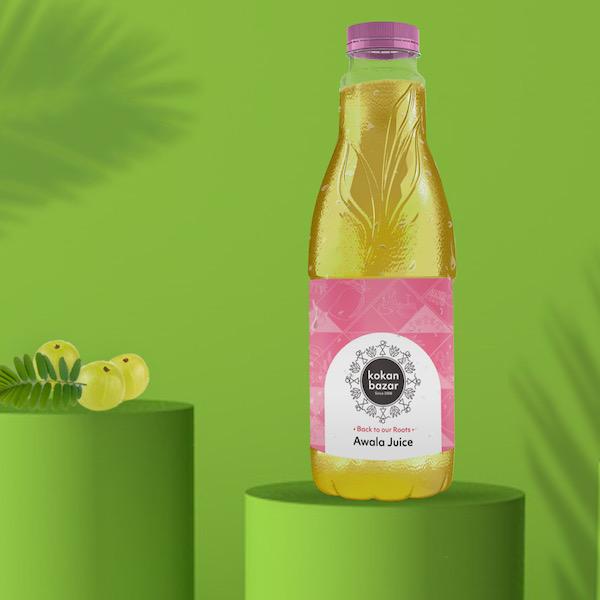 Plane Crazy Branding Agency Kokan Bazar Illustration Package Amla Juice