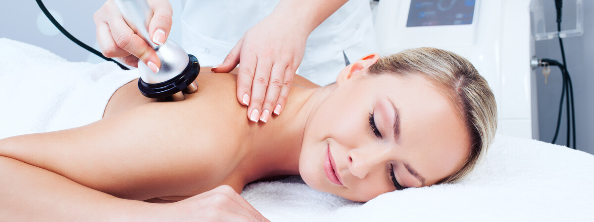 Young woman getting radio frequency treatment
