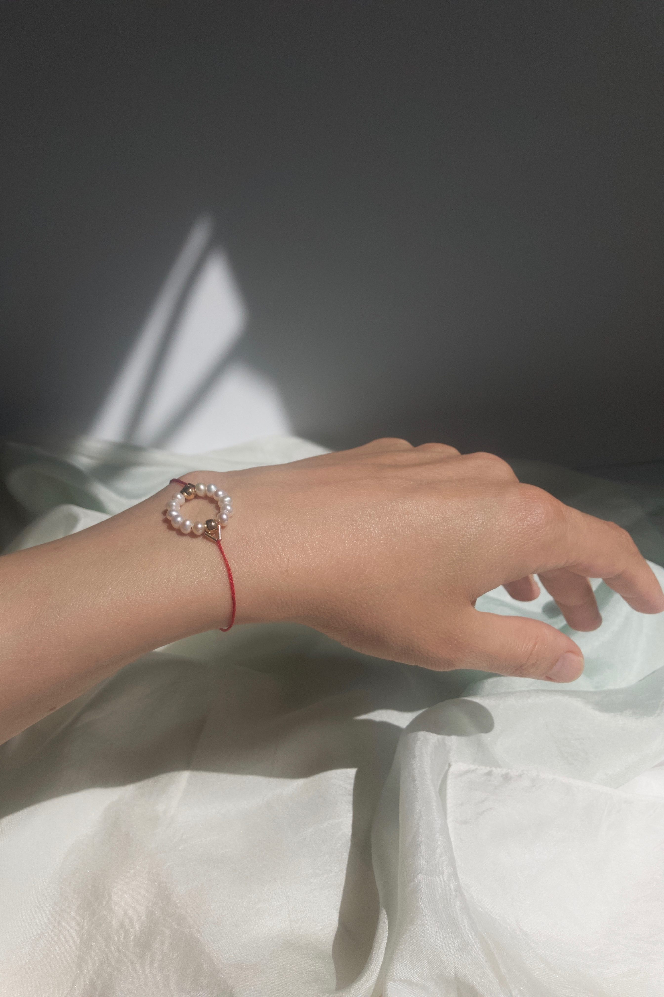 White Circle Bracelet