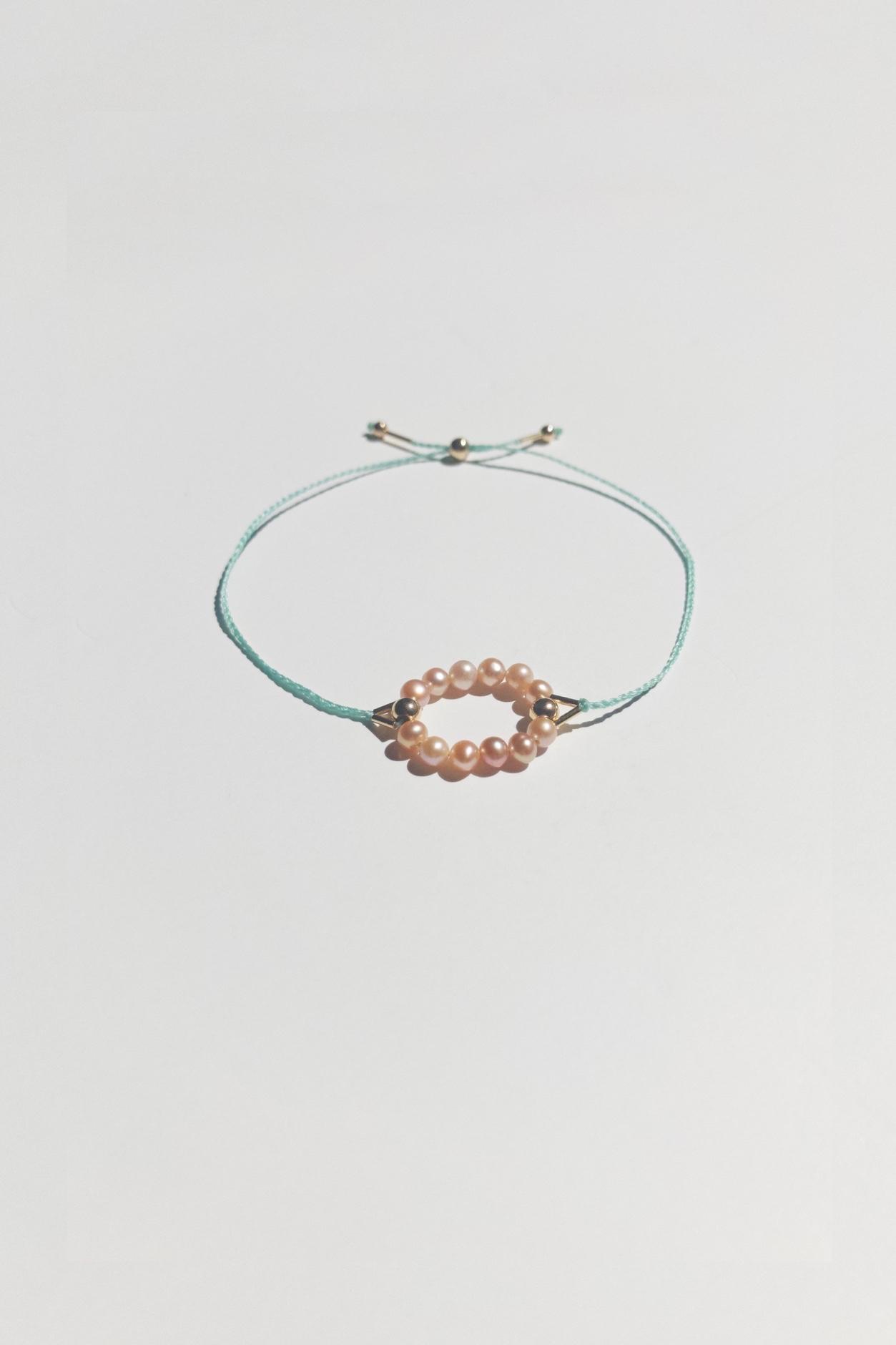 Pink Circle Bracelet