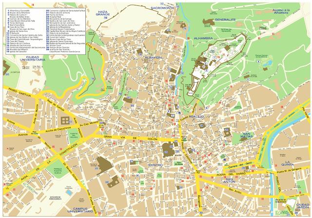 carte touristique grenade