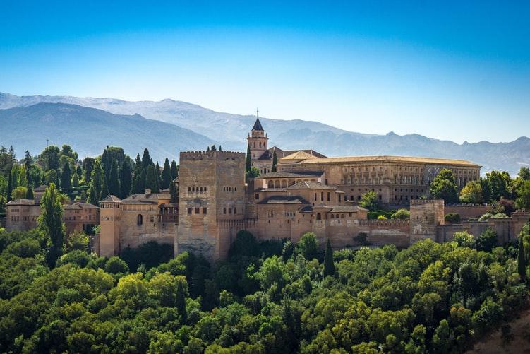 Vue sur l'Alhambra à Grenade