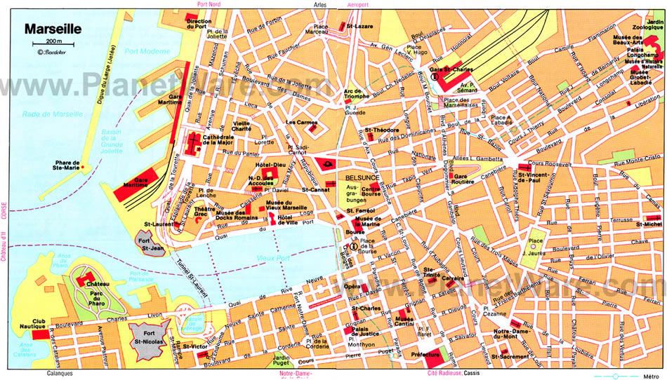 carte touristique marseille